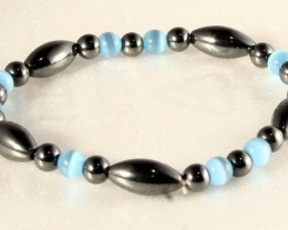 Very Nice Magnetic Bracelet with Cats Eye Beads MB-06