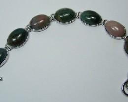 162cttw Genuine Multi-Gemstone Bracelet~8.5 Inches Long
