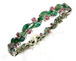 EMERALD/RUBY  BANGLE   80.00 CTS   90770