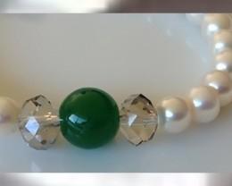 A Grade Pearls, Jade & Smokey Quartz ~ Original, Classy