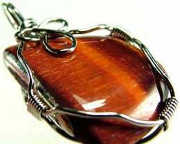 RED TIGER EYE PENDANT 22.05 CTS [GT387 ]