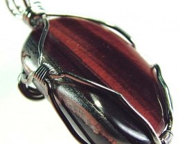 RED TIGER EYE PENDANT 37.95 CTS [GT388 ]