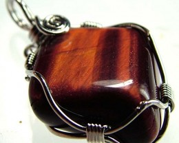 RED TIGER EYE PENDANT 26.00 CTS [GT389 ]