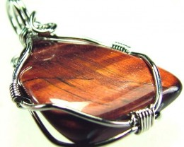 RED TIGER EYE PENDANT 17.45 CTS [GT394 ]