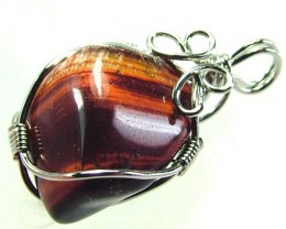 RED TIGER EYE PENDANT 22.10 CTS [GT399 ]