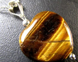 AUSSIE TIGER EYE  SET IN SILVER PENDANT  RT80
