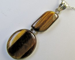 Dual Bright tiger eye Pendant MJA 366