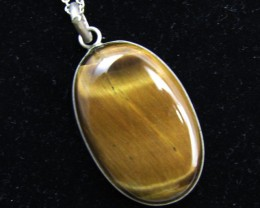 57 Cts large  Tiger eye Pendant MJA 917