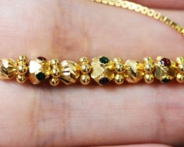 22 K Gold Necklace with gemstones LGN952