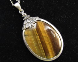 119 Cts large  Tiger eye Pendant MJA 920