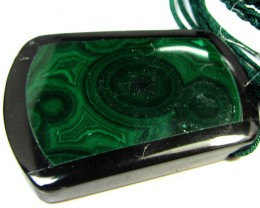 90 CTS  MALACHITE SET IN INLAY DESIGN GG217