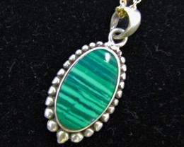 cts 17 Malachite  Pendants   MJA 933