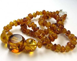 93 CTS NATURAL  BALTIC AMBER NECKLACE 44 CM  MGMG235
