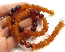 62 CTS NATURAL  BALTIC AMBER NECKLACE 44 CM  MGMG239