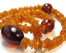 87 CTS NATURAL  BALTIC AMBER NECKLACE 44 CM  MGMG244