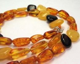 59 CTS NATURAL  BALTIC AMBER NECKLACE 44 CM  MGMG 245