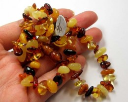 54  CTS CHILDS SIZE  AMBER NECKLACE 44 CM  MGMG 249