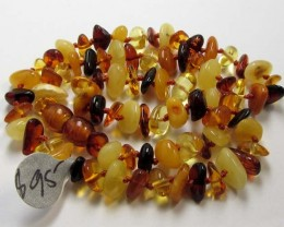 54  CTS CHILDS SIZE  AMBER NECKLACE 44  CM  MGMG 250