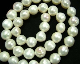 STUNNING PEARL STRAND  -LARGE 10 MM  277.50 CTS [SJ666]