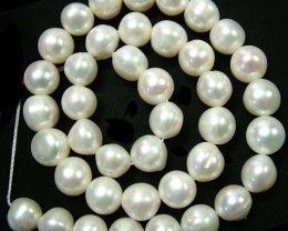 STUNNING PEARL STRAND  -LARGE 10 MM 267.95  CTS [SJ670]