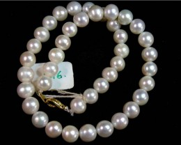 293 CTS IVORY  FRESH WATER PEARL  NECKLACE  STRAND   11 146
