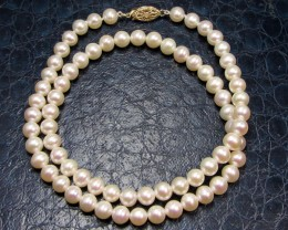 free shipp ing5.5-6 MM DIAM 14 K GOLD PEARL NECKLACE TP 28