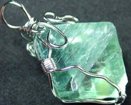 NATURAL FLUORITE CRYSTAL WIRE WRAPPED 39.85 CTS [GT436 ]