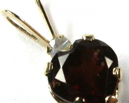 EXCLUSIVE GARNET 10KT YELLOW GOLD PENDANT  1.90 CTS  GTJA321