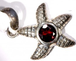 STARFISH FACETED GARNET SILVER PENDANT - 37CTS   TBJ-600