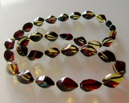 BEAUTIFUL HIGH QHALITY BALTIC AMBER NECKLACE 50 CM