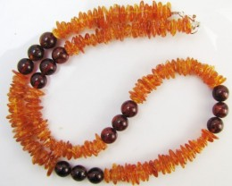 60Cts Amber   Necklace    two tone    MJA1134