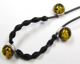 BALTIC AMBER SILVER NECKLACE MYG 868