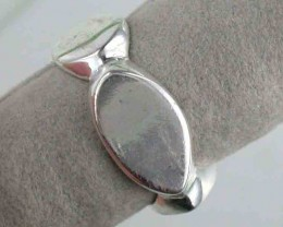 NATURAL PEWTER RING  SIZE 8   PE20
