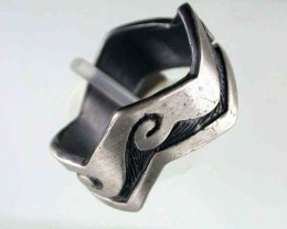 NATURAL PEWTER RING  SIZE 10  PE 16