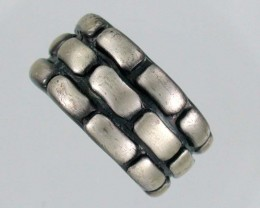 NATURAL PEWTER RING 10 PE 1A