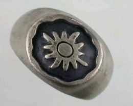 NATURAL PEWTER RING SIZE 11 PE 12 A