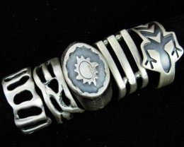 Pewter Rings 5 Mixed designs   PE43