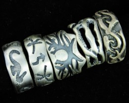 Pewter Rings 5 Mixed designs   PE47
