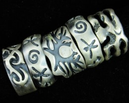 Pewter Rings 5 Mixed designs   PE50