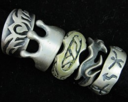 Pewter Rings 5 Mixed designs   PE52