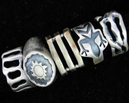 Pewter Rings 5 Mixed designs   PE42