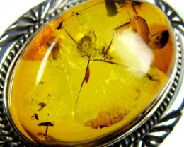 LARGE BALTIC AMBER RING SIZE 11.5 MYG1220