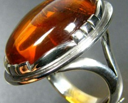 LARGE BALTIC AMBER RING SIZE 9 MYG1223