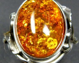 LARGE BALTIC AMBER RING SIZE 10.5 MYG1227