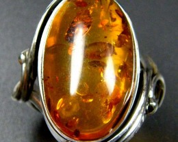 LARGE BALTIC AMBER RING SIZE 10.5 MYG1238