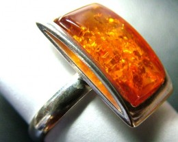 AMBER   RING-SIZE-7.5 SILVER 17.66 CTS  SG-2094