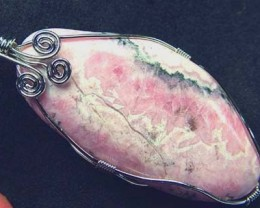 RHODOCHROSITE WIRE WRAPPED 91.25 CTS  [GT323 ]