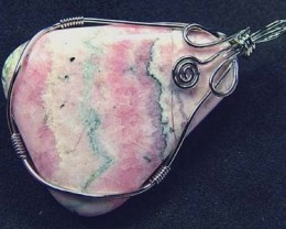RHODOCHROSITE WIRE WRAPPED 57.60 CTS  [GT332 ]