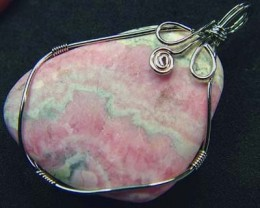 RHODOCHROSITE WIRE WRAPPED 77.40  CTS  [GT333 ]