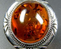 LARGE BALTIC AMBER RING SIZE 11.5 MYG1215